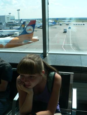 Waiting for a plane in Domodedovo