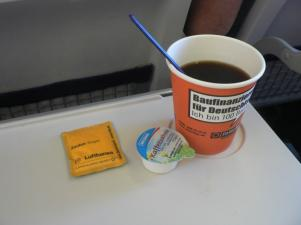 Coffee aboard Lufthansa aircraft