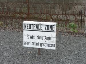 Forbidden Zone at the former concentration camp