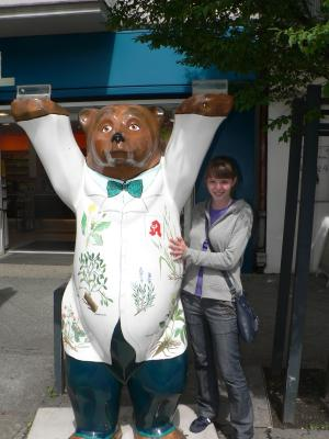 """Statue of """"bear-apothecary"""""""