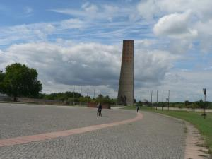 Stella in the center of the former concentration camp