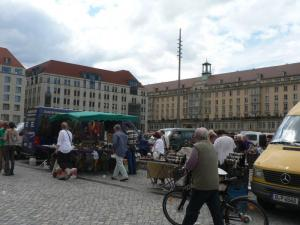 Marketplace in Dresden