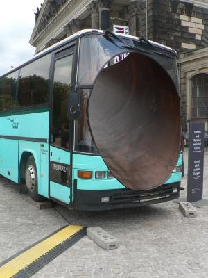 Bus with the hole inside