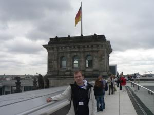 On the roof of the Reichstag