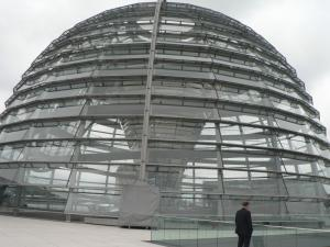 The glass dome of the Reichstag