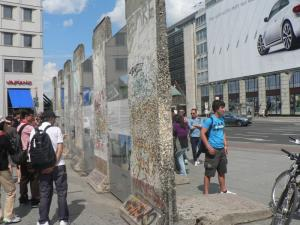 Berlin wall part at the Potsdamer platz
