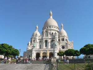 Sacre-Coeur in Montmartre hill