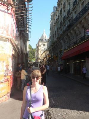 The street where the souvenir shops are situated