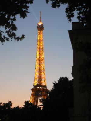 Eiffeil Tower in evening time