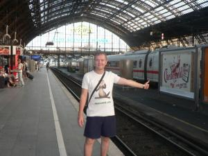 At the Cologne Main Railway Station