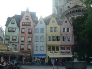 Coloured building in Koeln