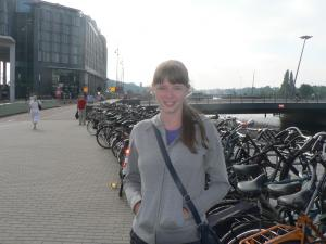 Amsterdam welcomes us - there are plenty of bikes.
