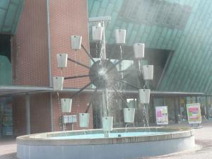 Fountain near NEMO Museum