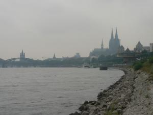 View of Cologne from the bank of Rhine