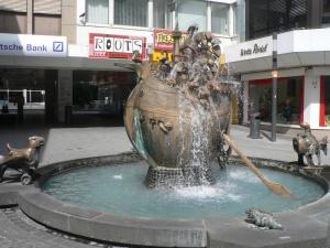 Unique fountain in Koblenz