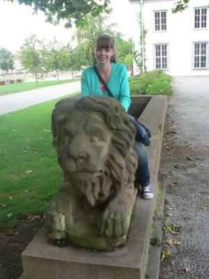Lion statue at the Koblenz Palace territory