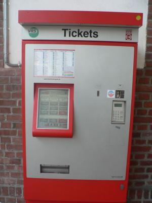 Билетный автомат на станции KVB