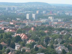 Вид сверху на город Дрезден