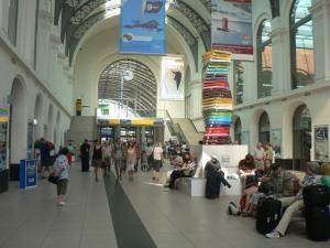 На вокзале в Дрездене