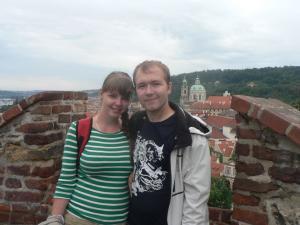Вид на Прагу из Града