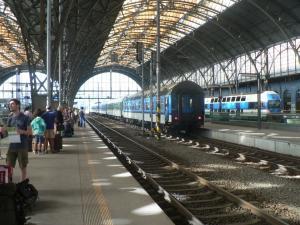 На Главном вокзале в Праге