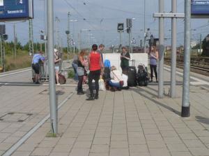 На вокзале в Ангермюнде