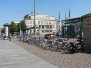 Здание ЖД вокзала в Лейпциге